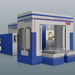 Covered machining centres